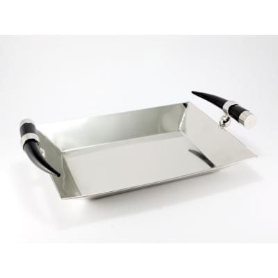 tablett metall rechteckig hornoptik brillibrum online. Black Bedroom Furniture Sets. Home Design Ideas